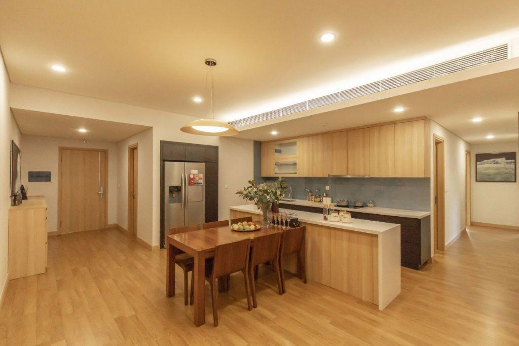 phòng ăn căn hộ cho thuê sky park residence