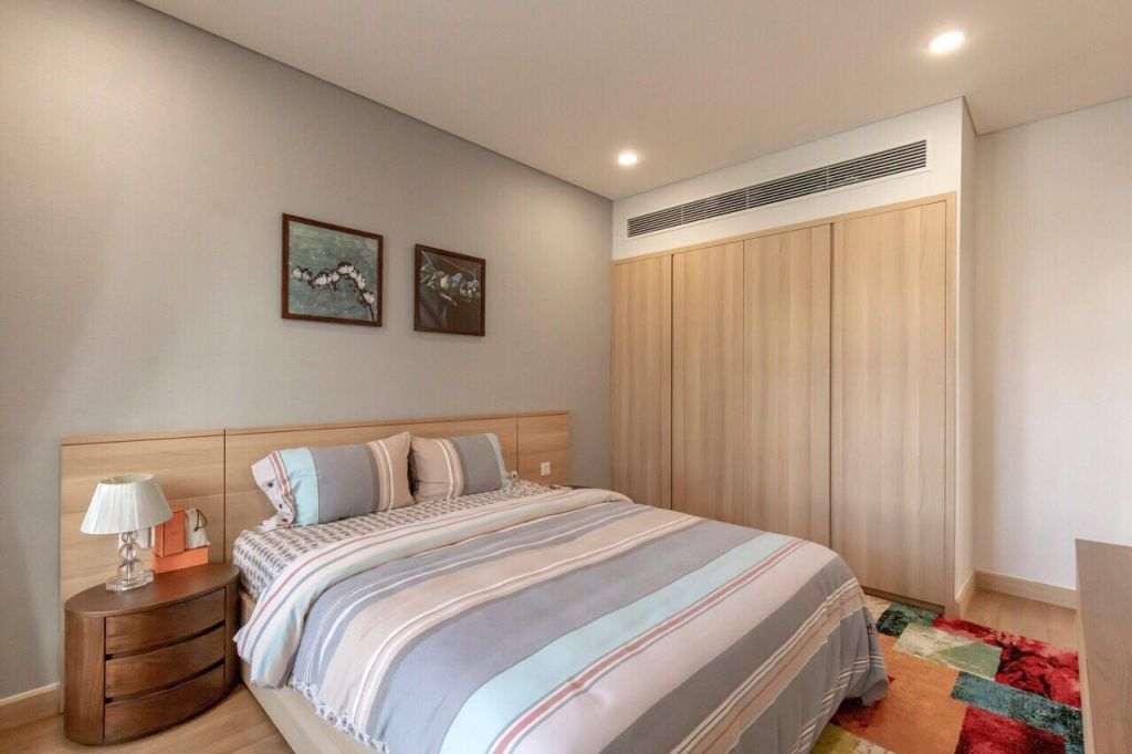 phòng ngủ căn hộ cho thuê sky park residence