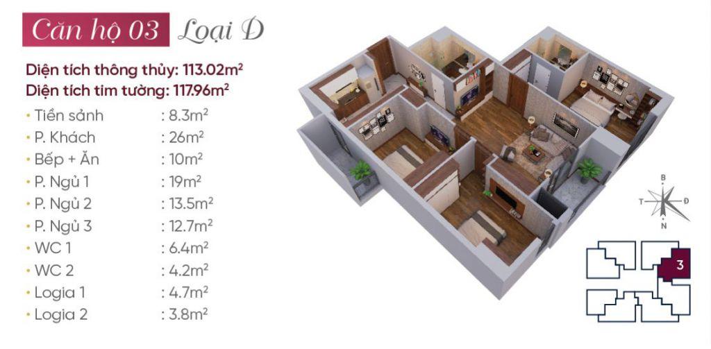 thiết kế căn hộ 03 tây hồ golden land