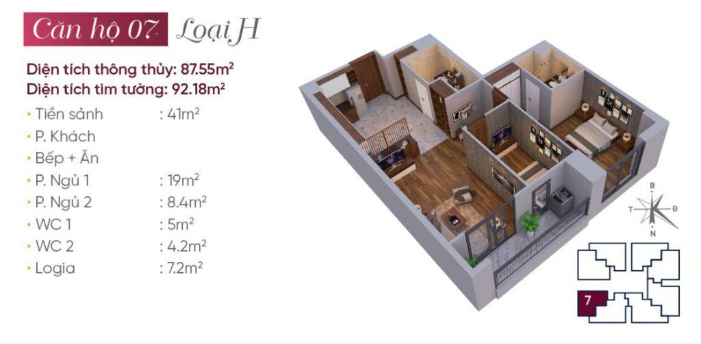 thiết kế căn hộ 07 tây hồ golden land