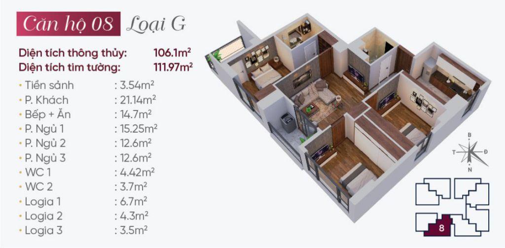 thiết kế căn hộ 08 tây hồ golden land