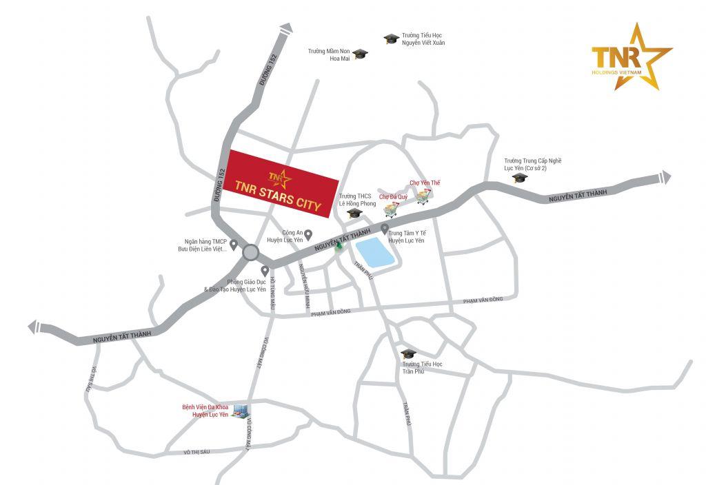 vị trí dự án tnr stars city lục yên