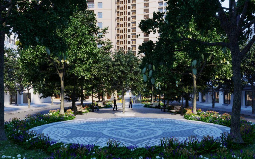 vườn cây dự án aurora garden