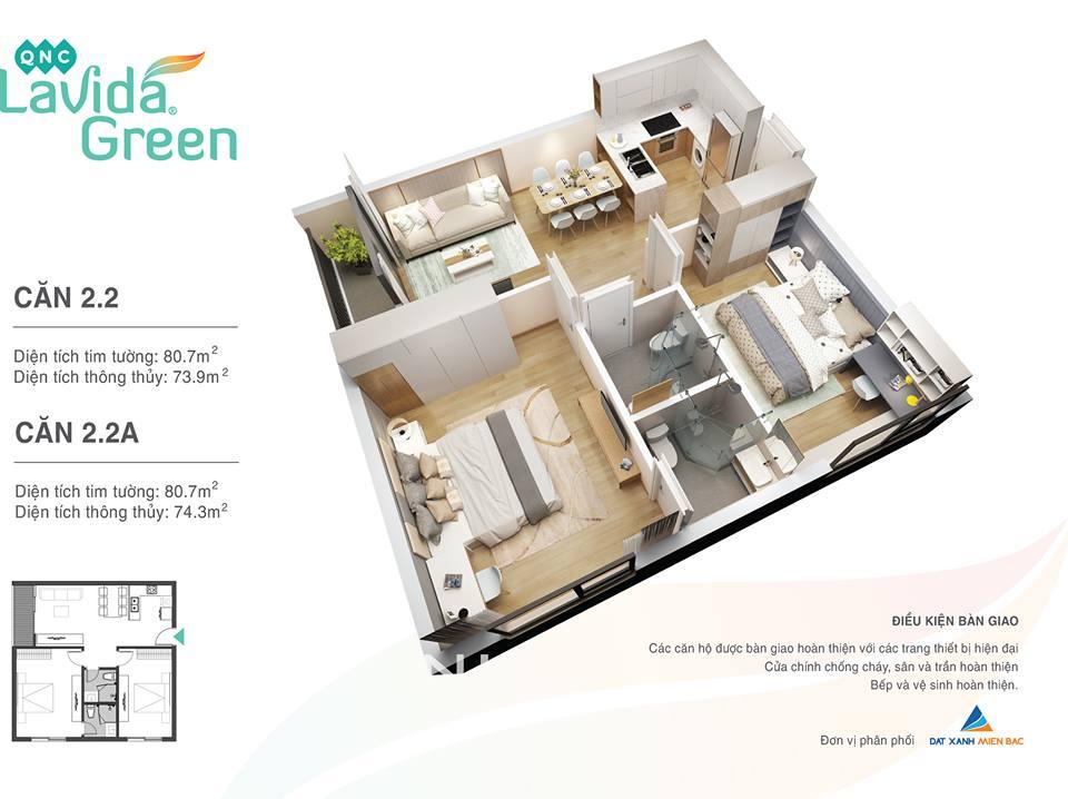 thiết kế căn hộ chung cư lavida green phố nối