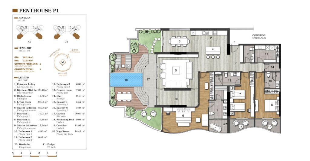 thiết kế penthouse marina ocean park
