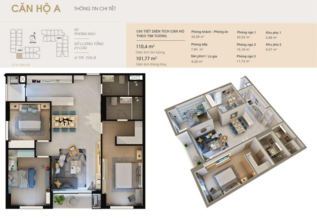 thiết kế chung cư rivera park hà nội căn hộ a