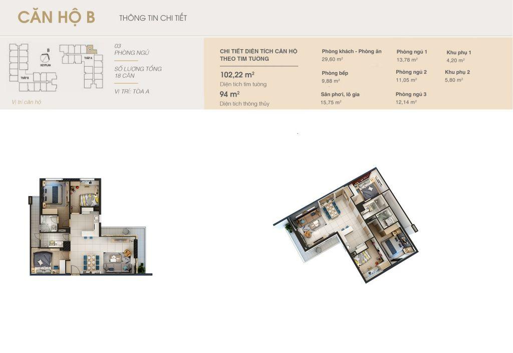 thiết kế chung cư rivera park hà nội căn hộ b