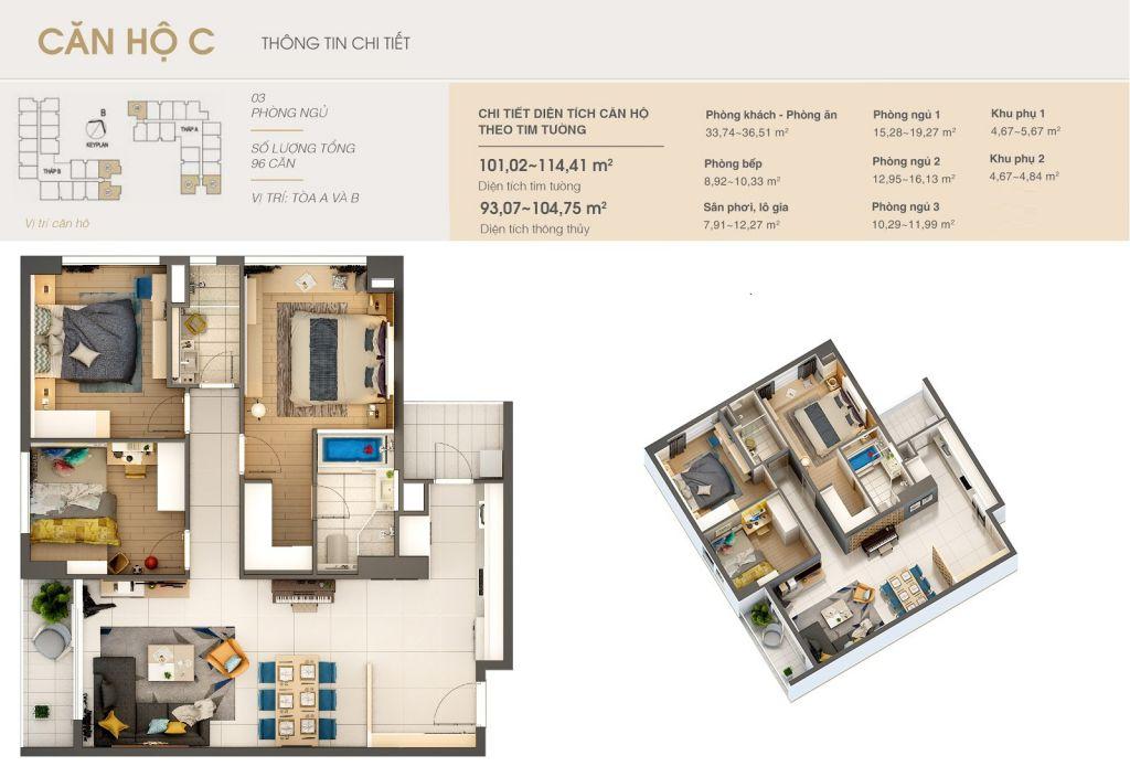 thiết kế chung cư rivera park hà nội căn hộ c