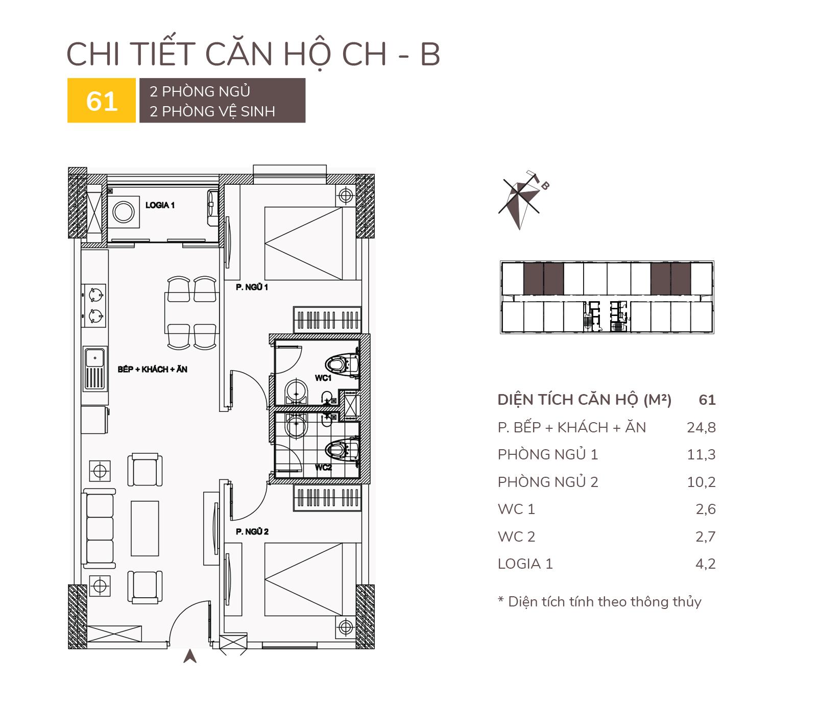 thiết kế căn hộ b chung cư aqh riverside