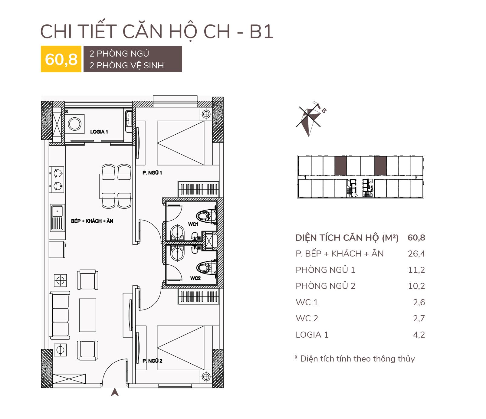 thiết kế căn hộ b1 chung cư aqh riverside