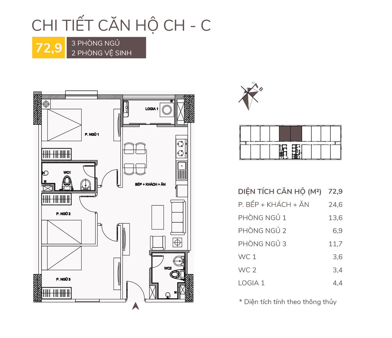 thiết kế căn hộ c chung cư aqh riverside