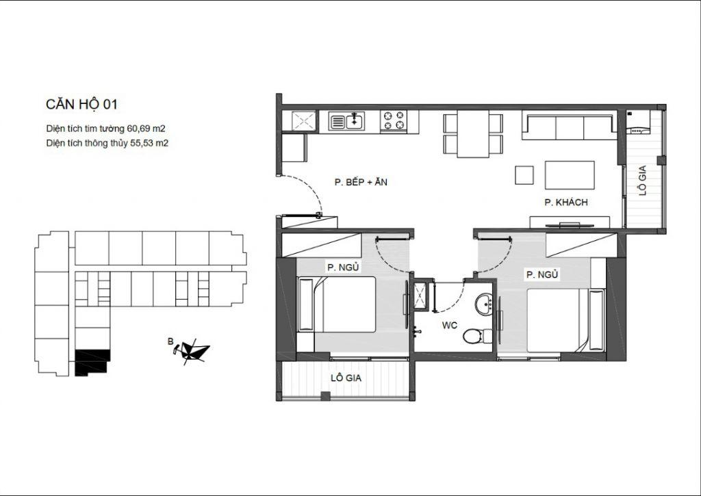 thiết kế căn hộ 01 chung cư an bình plaza