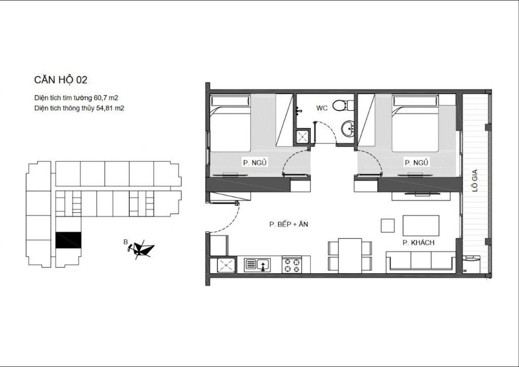 thiết kế căn hộ 02 chung cư an bình plaza