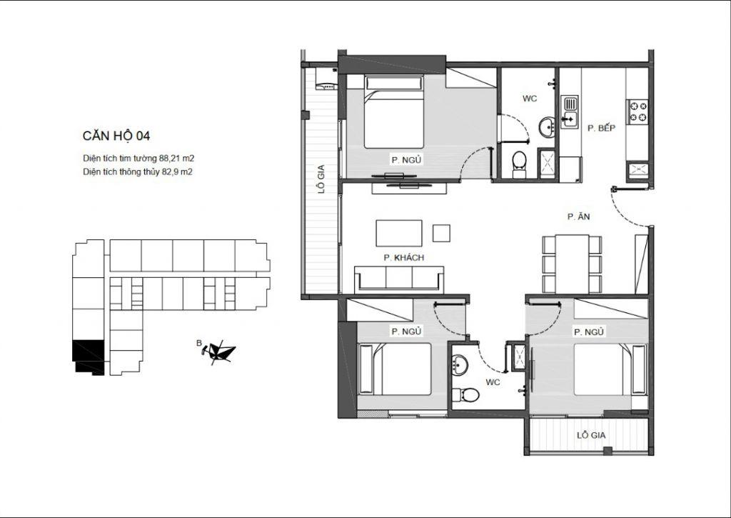 thiết kế căn hộ 04 chung cư an bình plaza