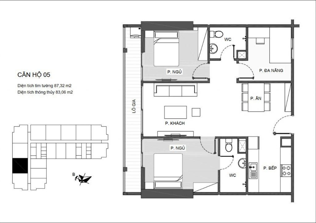 thiết kế căn hộ 05 chung cư an bình plaza