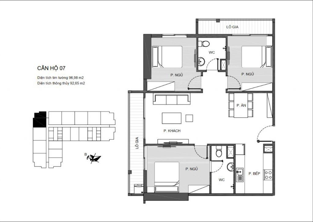 thiết kế căn hộ 07 chung cư an bình plaza