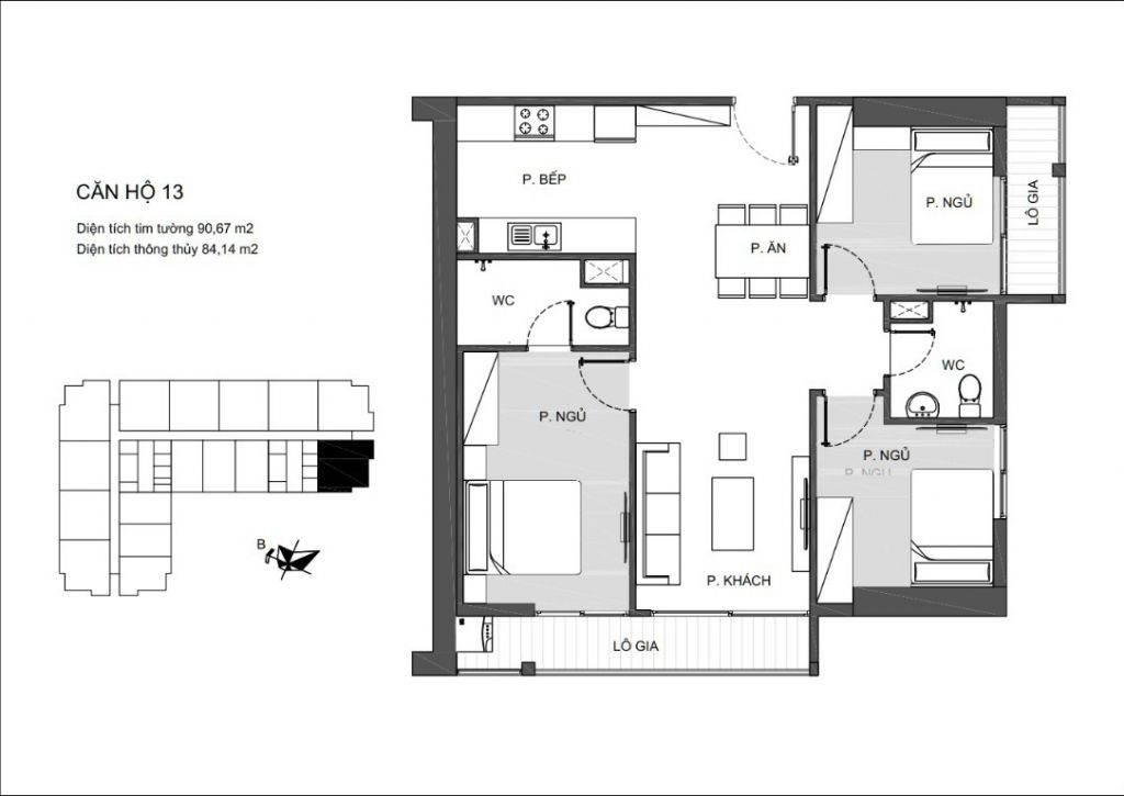 thiết kế căn hộ 13 chung cư an bình plaza
