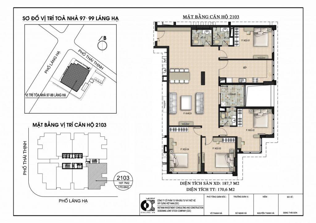 thiết kế căn hộ chung cư 97 - 99 láng hạ