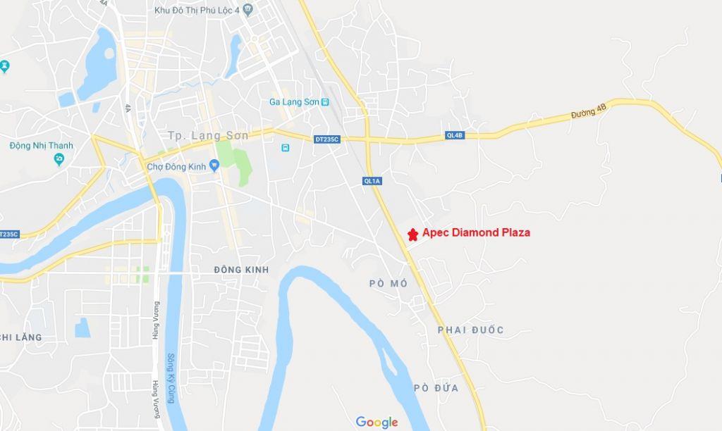 vị trí dự án apec diamond park lạng sơn
