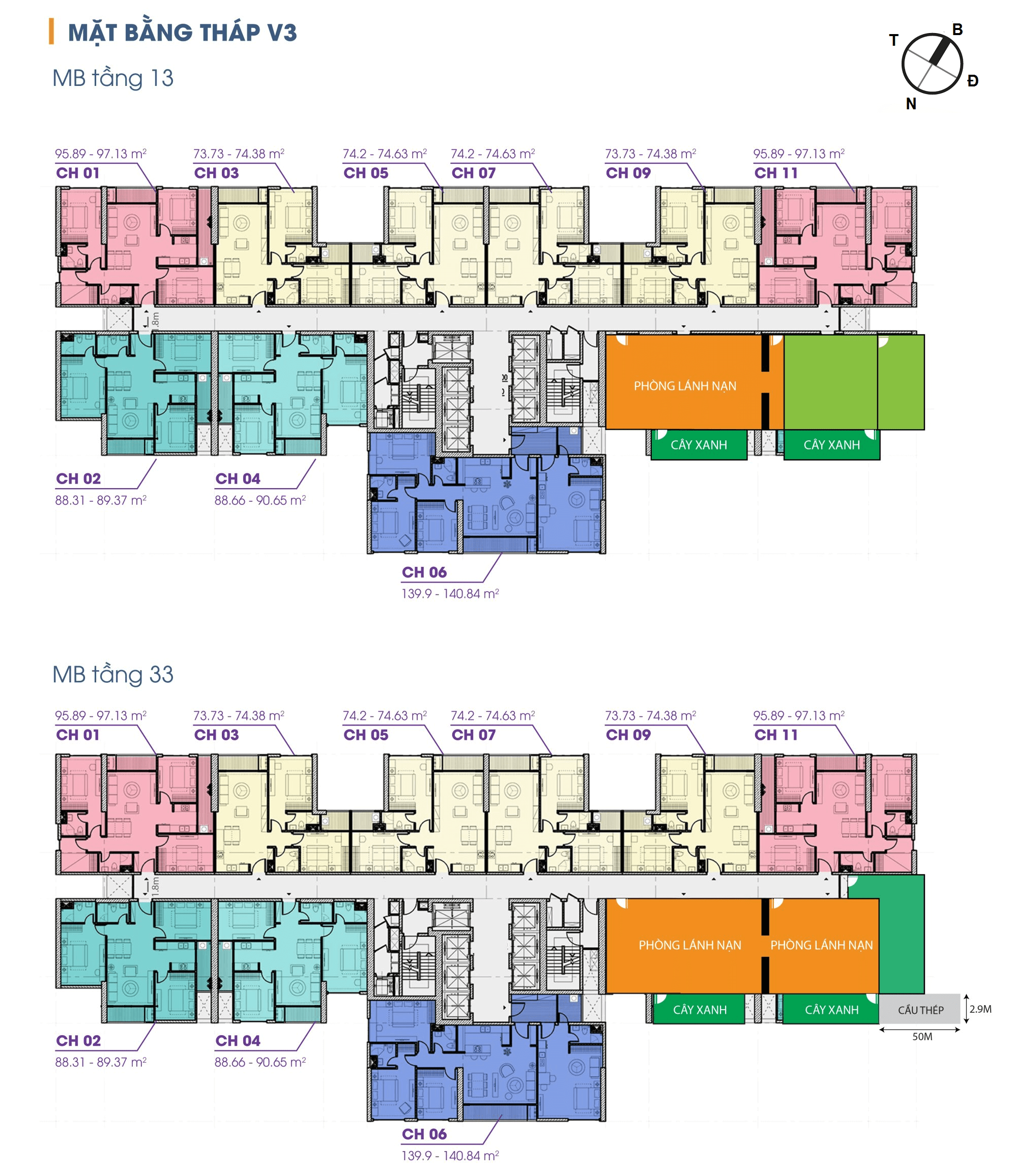 mặt bằng tòa v3 chung cư the terra an hưng tầng 13-33
