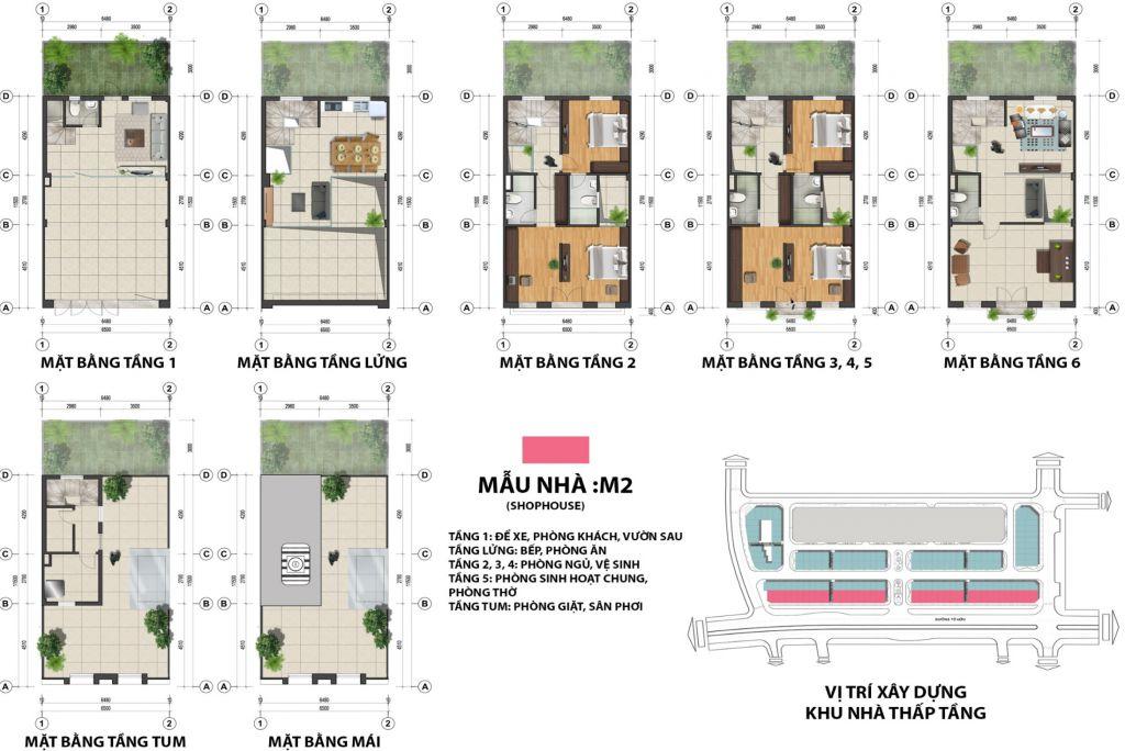 thiết kế shophouse the terra an hưng
