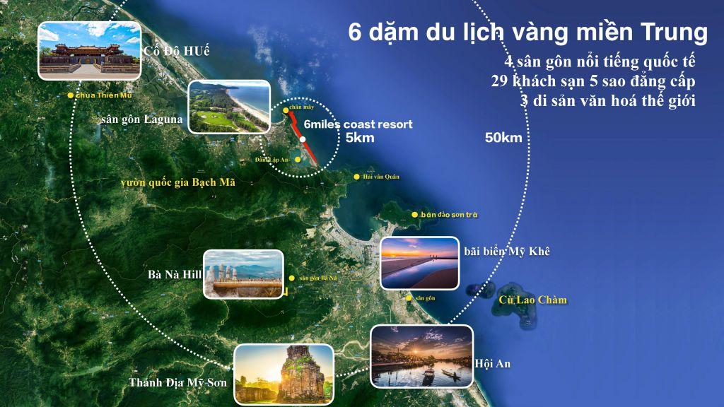 vi trí dự án 6 miles coast resort