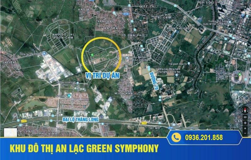 vị trí dự án an lạc green symphony