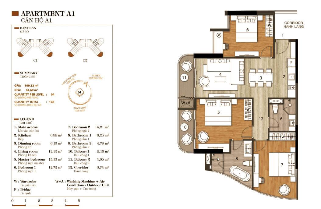aparthotel crystal marina bay căn hộ a1