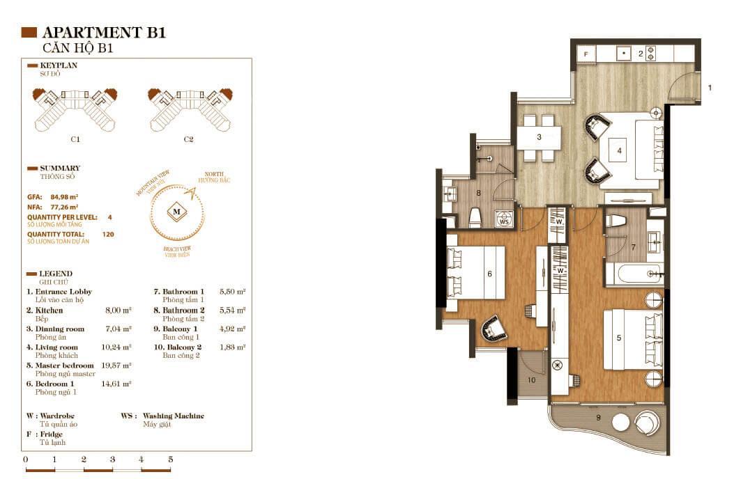 aparthotel crystal marina bay căn hộ b1
