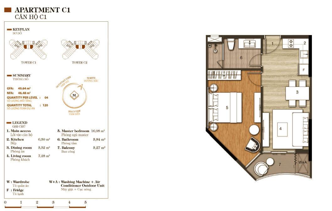 aparthotel crystal marina bay căn hộ c1