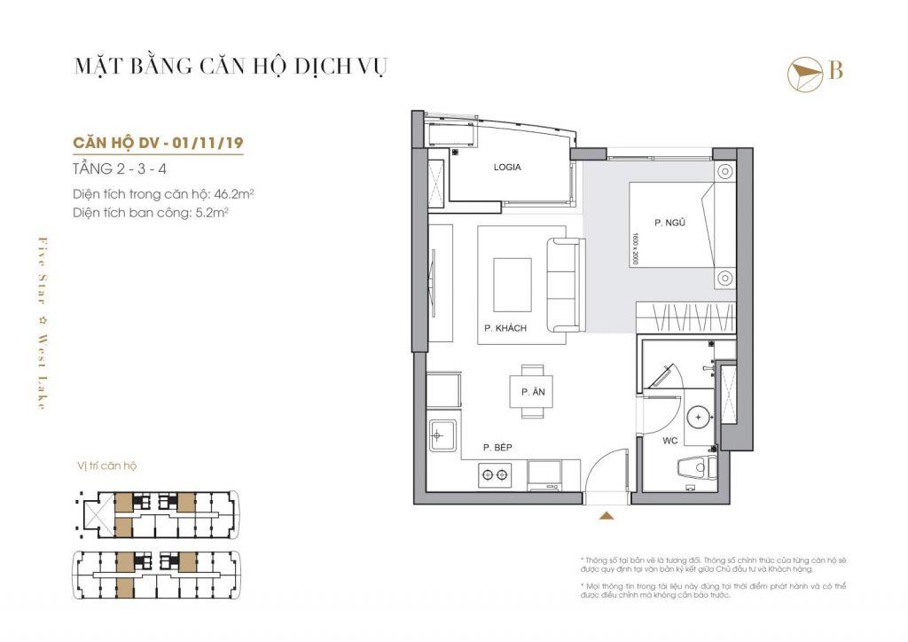 thiết kế căn hộ chung cư five star west lake