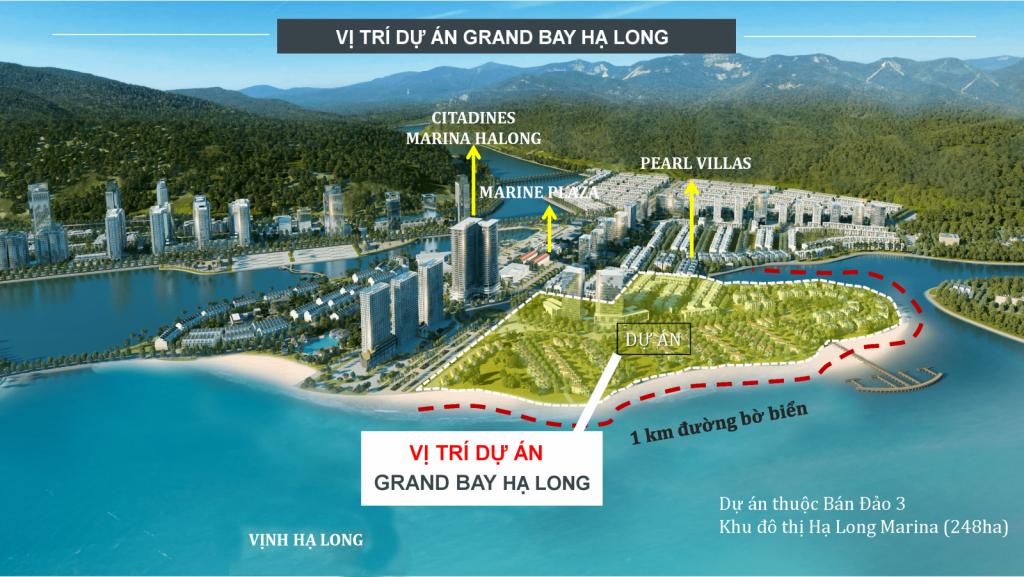vị trí dự án grand bay hạ long villas