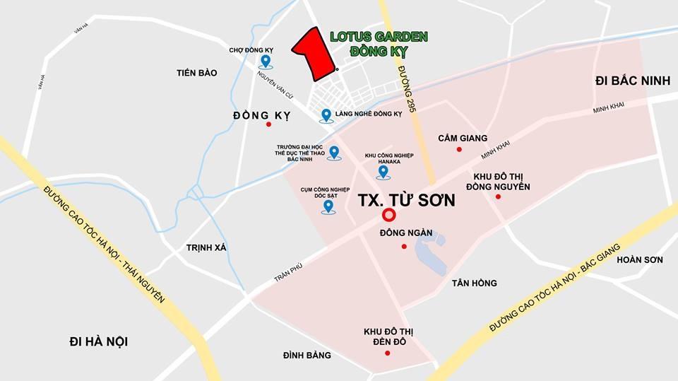vị trí lotus garden đồng kỵ
