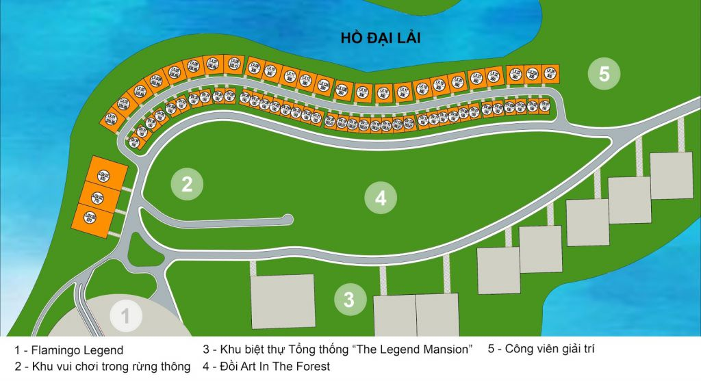mặt bằng dự án the legend villas