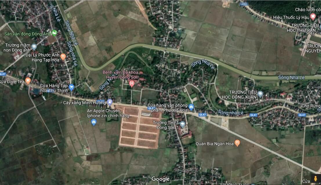 vị trí dự án eco green city đông sơn
