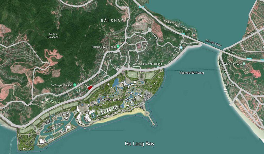 vị trí sunshine marina hạ long bay