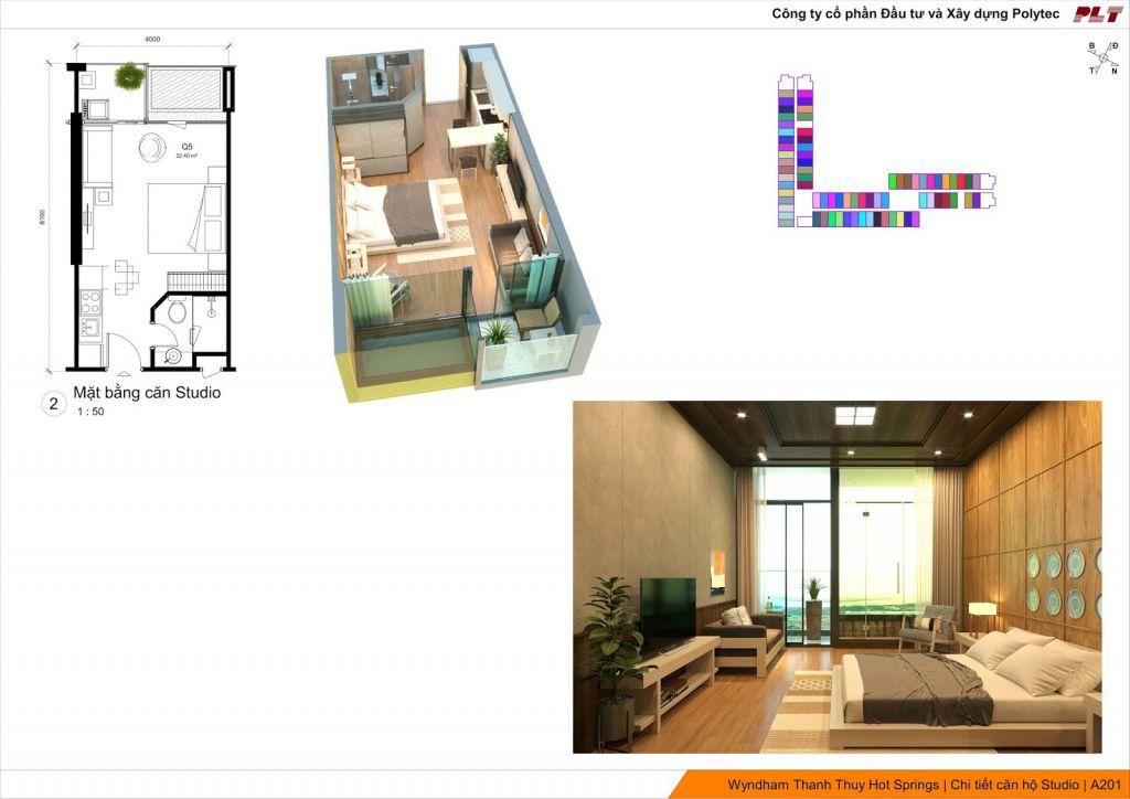thiết kế condotel wyndham lynn times thanh thủy căn hộ studio