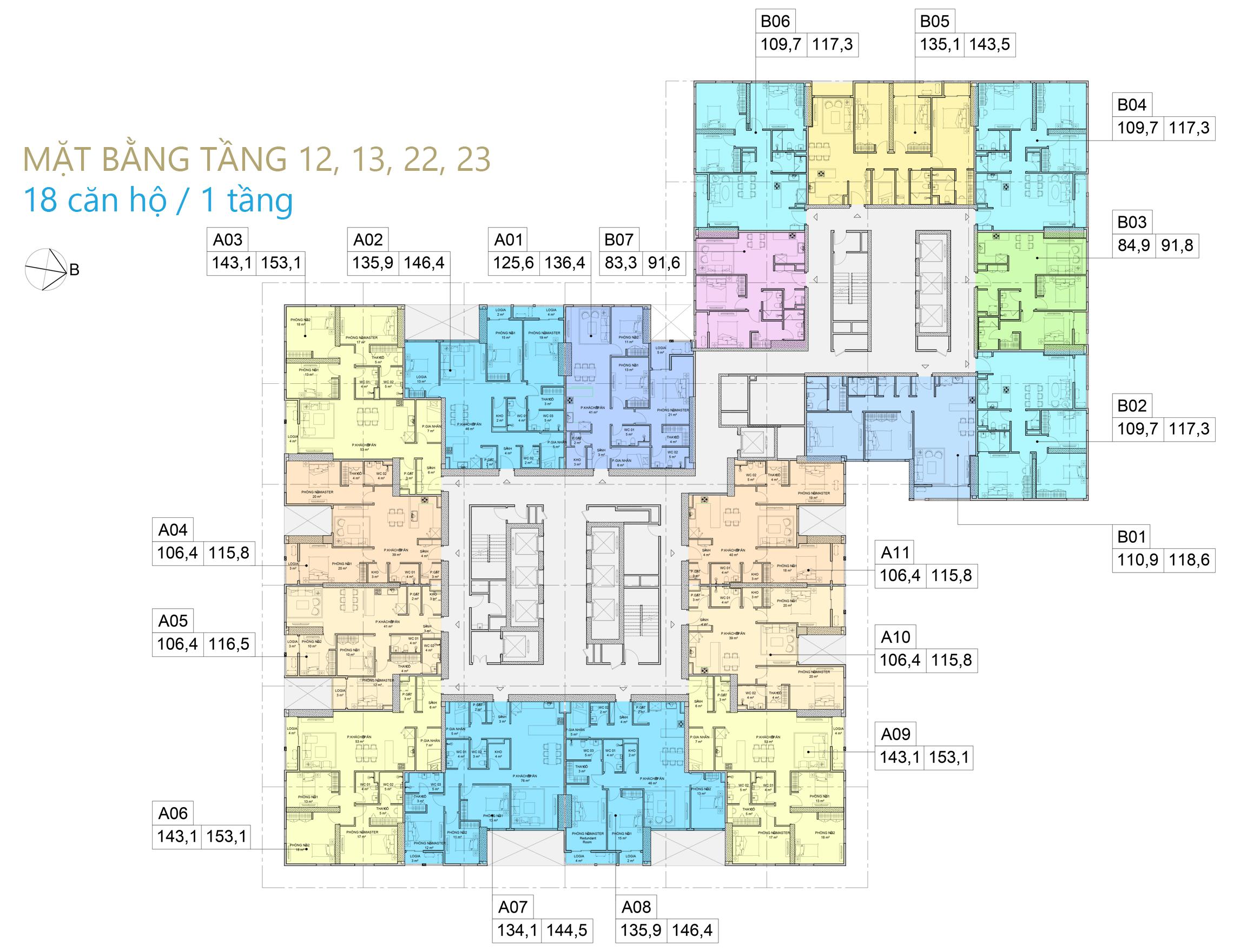 mặt bằng chung cư bid residence