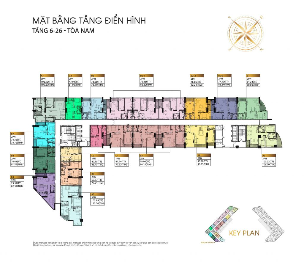 mặt bằng chung cư the minato residence tầng 6 - 26
