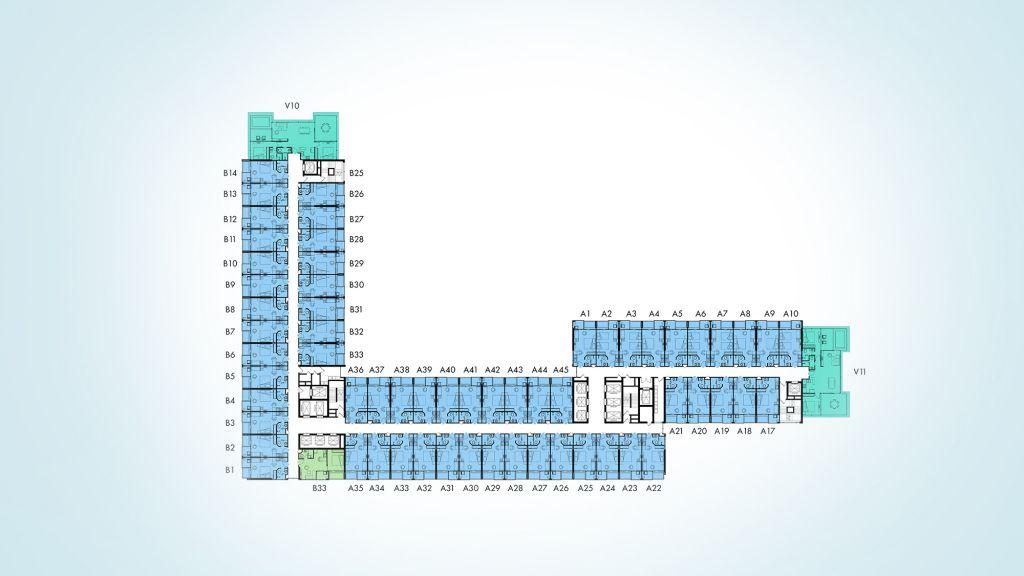 mặt bằng condotel wyndham lynn times thanh thủy tầng 30