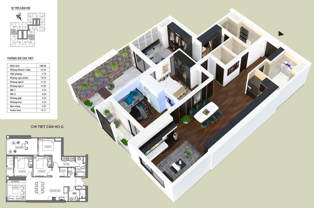 Thiết kế căn hộ G HPC Landmark 105