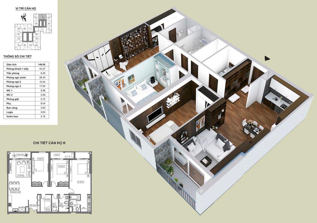 Thiết kế căn hộ K