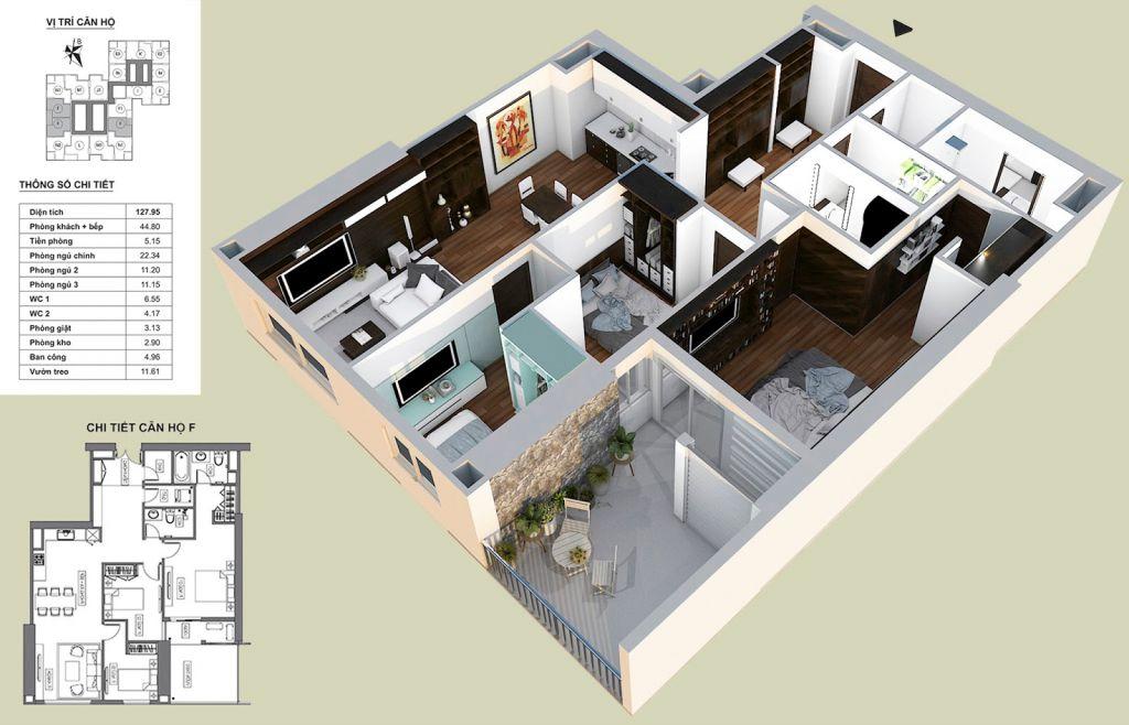 Thiết kế căn hộ F