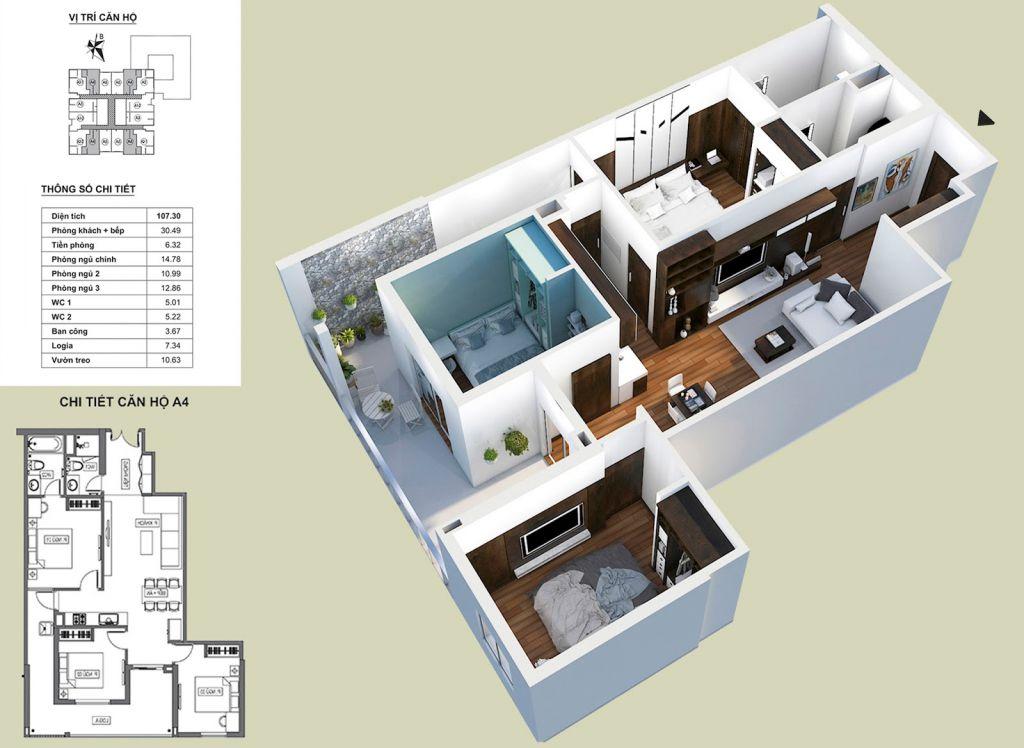 Thiết kế căn hộ A4