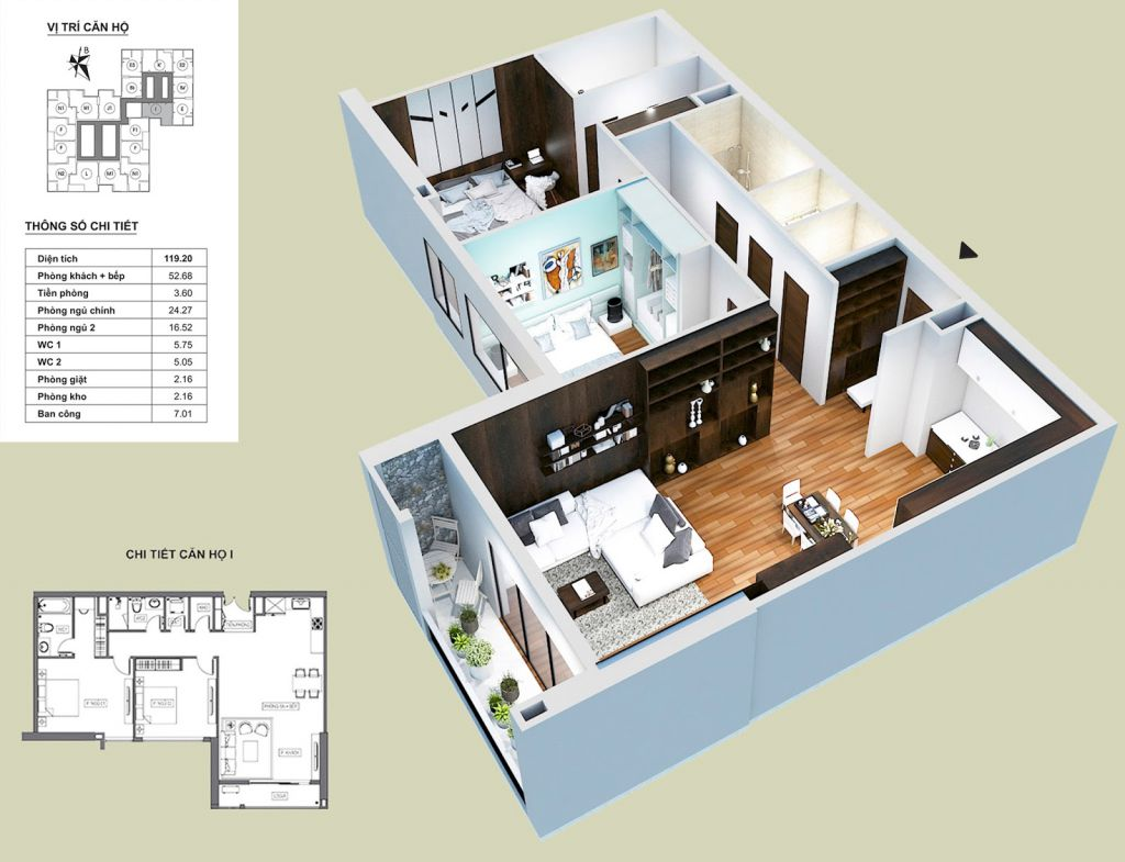 Thiết kế căn hộ I HPC Landmark 105