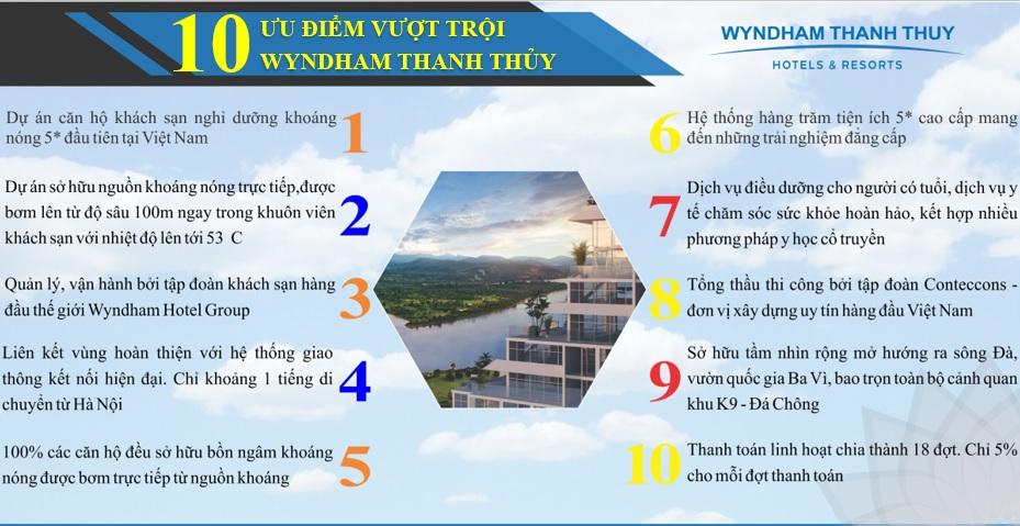 ưu điểm dự án wyndham thanh thủy