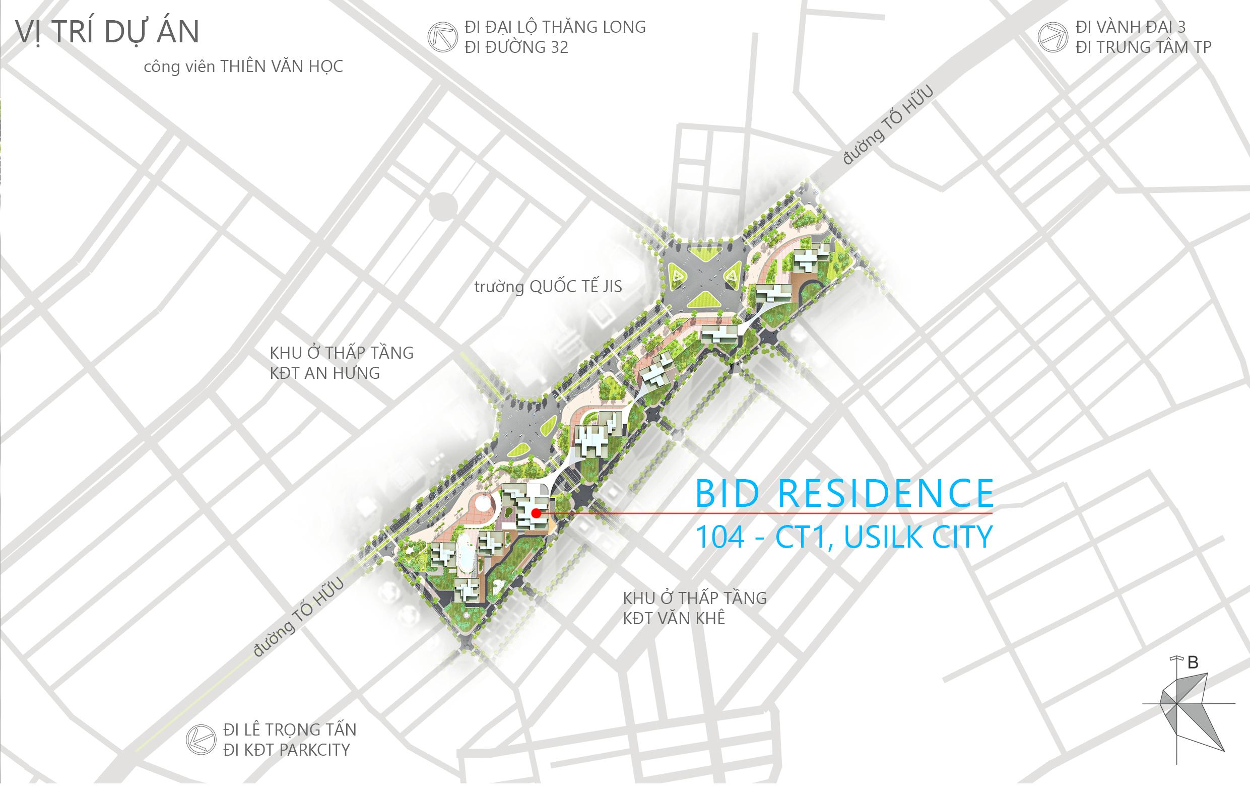vị trí chung cư bid residence