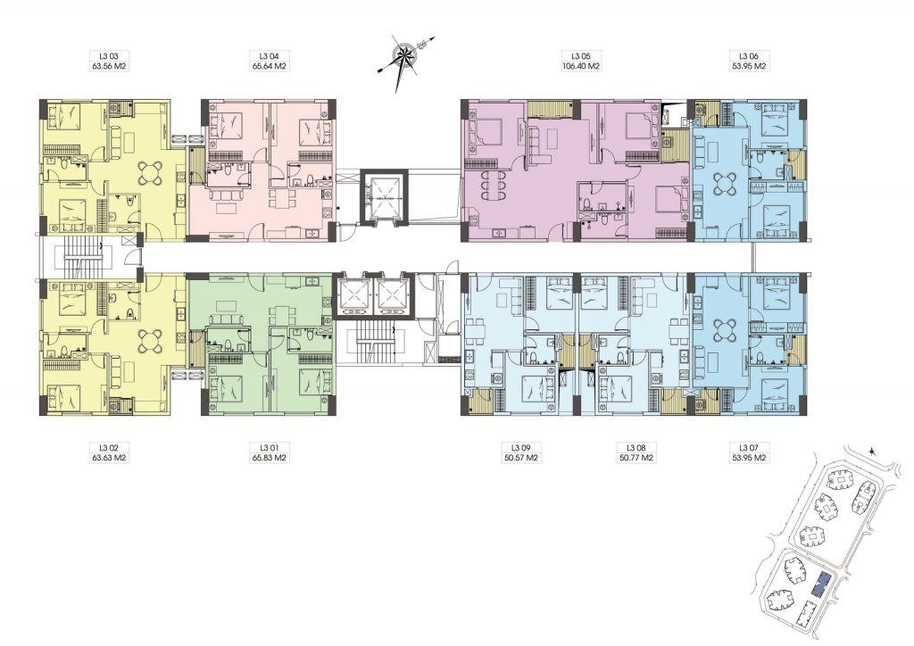 mặt bằng chung cư le grand jardin tòa l3