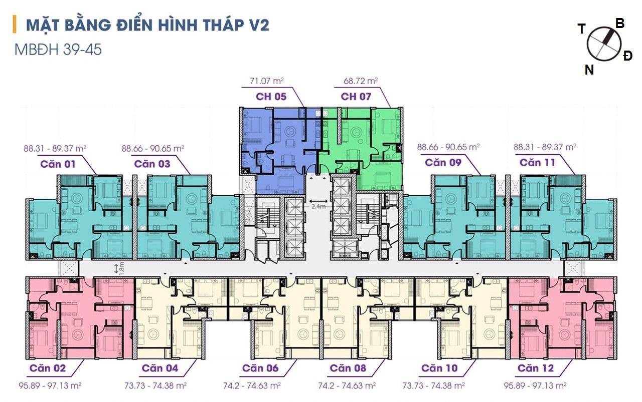 mặt bằng chung cư the terra an hưng tòa v2
