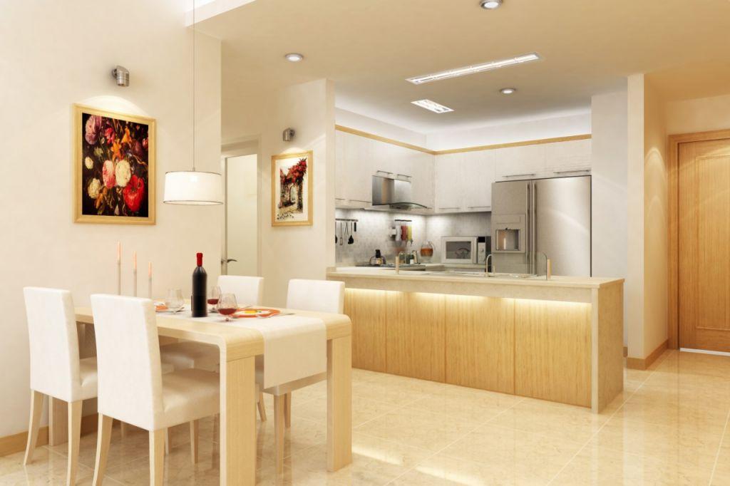 phòng bếp chung cư bid residence
